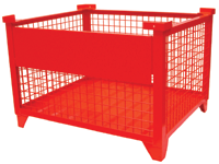 Drop Gate Wire Mesh Steel Pallet Container