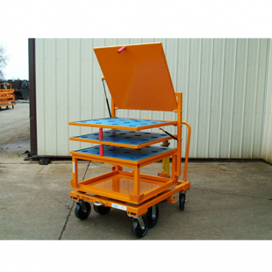 33x31 Rotation Cart with Flip Up Shelf Top Hat Rack Ref: CT122