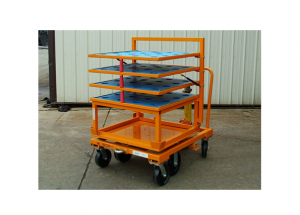 33x31 Rotation Cart with Flip Up Shelf Top Hat Rack Ref: CT122A