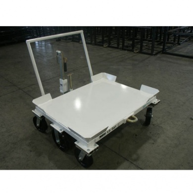 6 Wheel Static Cart with Extended Tip Down Pin Lock Tow Hitch Tow Bar Ref: CT139