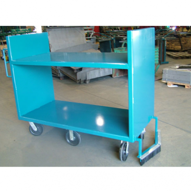 6 Wheel Steer Shelf Cart with Sweeper Ref: CT130