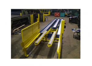 Gravity Roller Conveyor with Powered Air Lift Ref: CV11