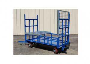 Quad Steer Cart with Tip Up Shelves and Large Box Extension Side Rails Ref: CT60