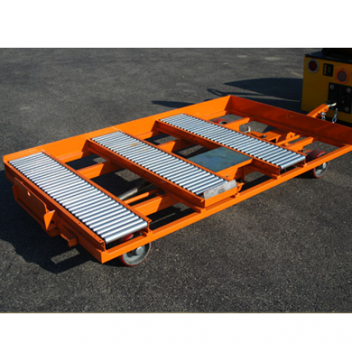 Quad Steer Manual Transfer Cart with Automatic Flip Up Stop Ref: CT176