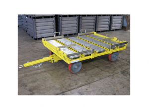 Quad Steer Single 48x45 Box Manual Transfer and Lift Gate Cart Ref: CT177A
