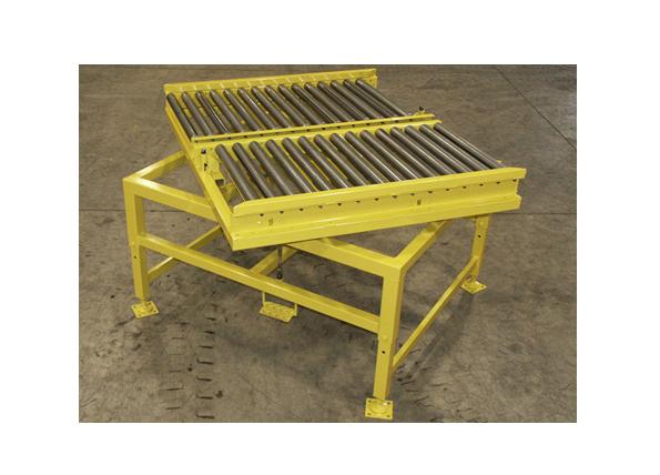 Roller Conveyor On Rotation Table Ref: Cv06 Industrial Conveyor