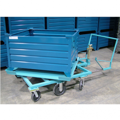 Rotation Cart With Corrugated Steel Container Ref: CT36
