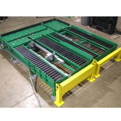 Side by Side Pneumatic Pusher Conveyor Ref: CV08