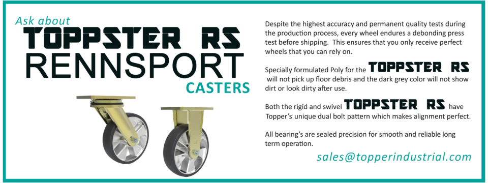 Caster and Wheels for Industrial Carts - Material movement
