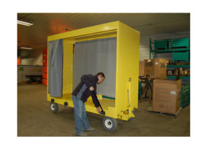 Quad Steer Cart w Curtains and Tie Downs Ref CT 203