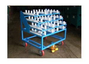 Static Cart w Raised Platform Storage Shelves