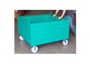 Custom Non-stacking Container with Casters Ref: CM35