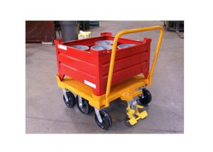 6 Wheel Static Cart with Corrugated Container Ref: CT137
