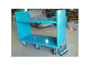 6 Wheel Steer Shelf Cart with Sweeper Ref: CT130