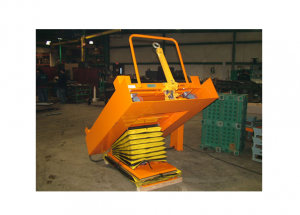 Pneumatic Cart Lower and Tilt at Pit Level Ref: LT09