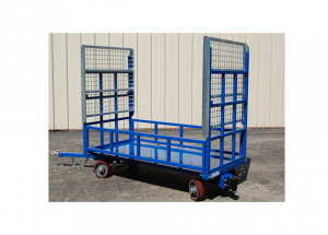 Quad Steer Cart with Tip Up Shelves and Large Box Extension Side Rails Ref: CT60A