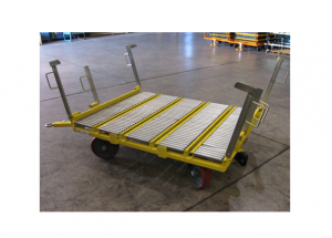 Quad Steer Single 48x45 Box Manual Transfer and Lift Gate Cart Ref: CT177