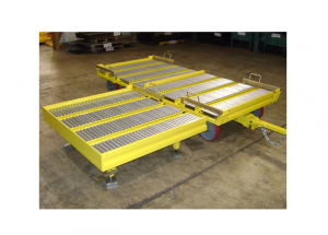 Quad Steer Single 48x45 Box Manual Transfer and Lift Gate Cart Ref: CT177B
