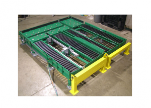 Side by Side Pneumatic Pusher Conveyor Ref: CV08