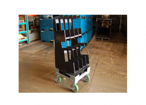 Static Cart with Pigeon Holes and Urethane Bedliner Ref: CT124