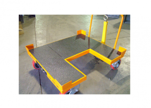 Step In Cart with Urethane Bedliner and Shock Absorbing Casters Ref: CT43