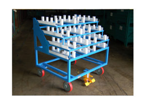 Static Cart w Raised Platform Storage Shelves
