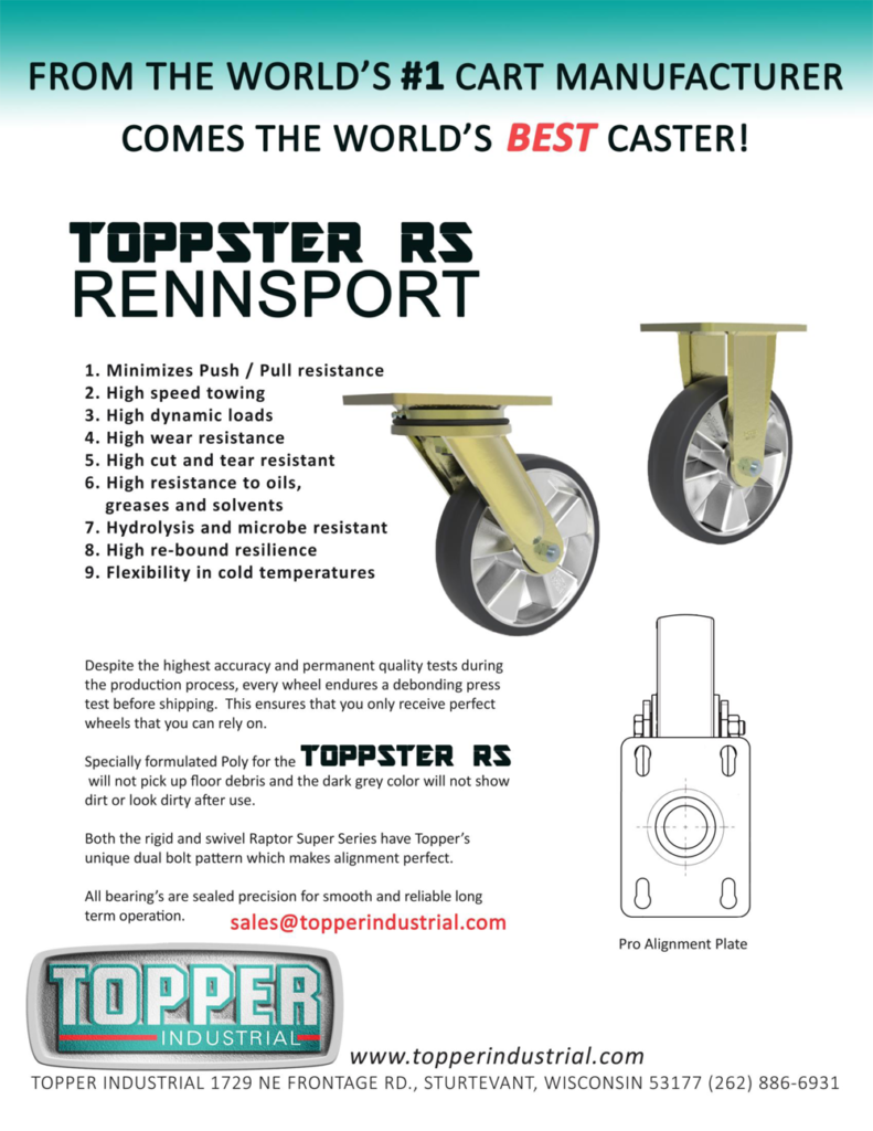Toppster RS Rennsport - RS - Casters Topper Industrial