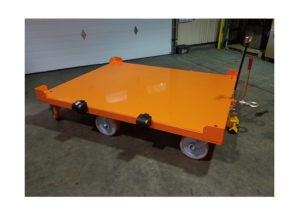 6 whl Custom Static Cart w Safety Restraints Ref CT282