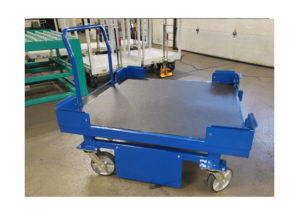 Custom 4 Whl Static Tunnel Cart w Corner Guides and Rhinoline Ref CT307
